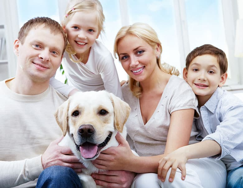 family and pet in South Carolina